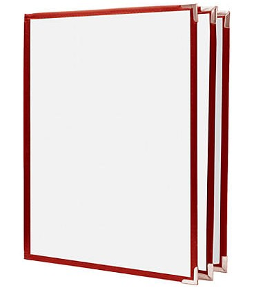 Restaurant Menu Cover - Red 6 Views Letter Size